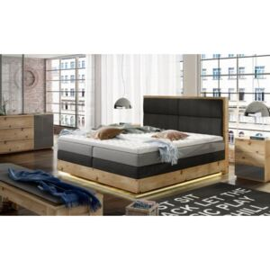 WRL Boxspring Trento LED massiv wood