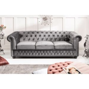 Chesterfield Oxford: Pohovka 3M light gray