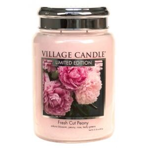 VILLAGE CANDLE VONNÁ SVÍČKA VE SKLE, PIVOŇKY - FRESH CUT PEONY, 26OZ