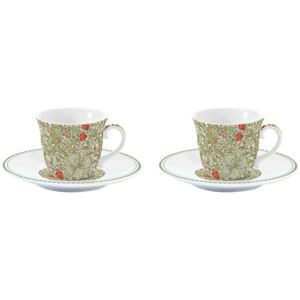 Easy Life Sada porcelánových hrnků na espresso William Morris Green R1107-WILG