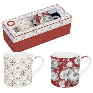 Easy Life Porcelánové hrnky Red Baroque R0178-TCRB