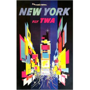 Super-home TWA New York, Times Square - Vintage Travel Poster