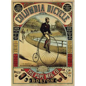 Super-home Columbia Bicycle - Vintage Advertising Poster