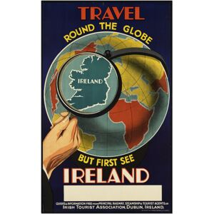 Super-home Travel Round the Globe, First See Ireland - Travel Poster