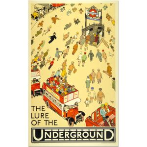 Super-home The Lure of the Underground - London Travel Poster