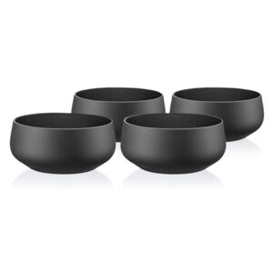 Crystalex 4dílná sada misek Mini Bowls Black, 95 ml