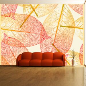 Bimago Fototapeta strom - Autumn leaves pattern 200x154 cm