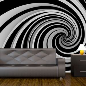 Fototapeta Bimago - Black and white swirl + lepidlo zdarma 200x154 cm