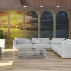 Bimago Fototapeta - Dream about magical fields 550x270 cm