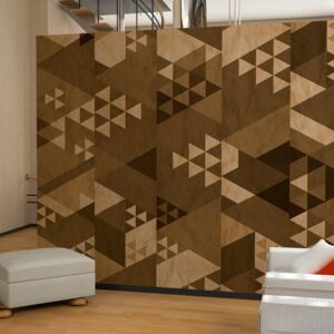 Tapeta Bimago - Brown patchwork + lepidlo zdarma role 50x1000 cm
