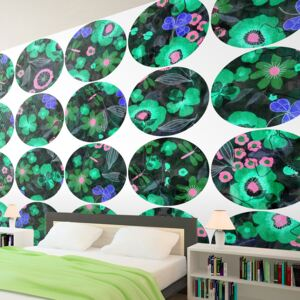Tapeta Bimago - Green meadow - circle + lepidlo zdarma role 50x1000 cm