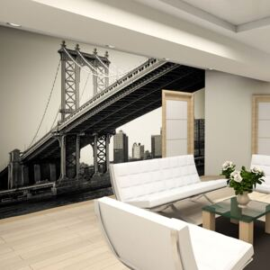 Fototapeta Bimago - Manhattan Bridge, New York + lepidlo zdarma 200x154 cm