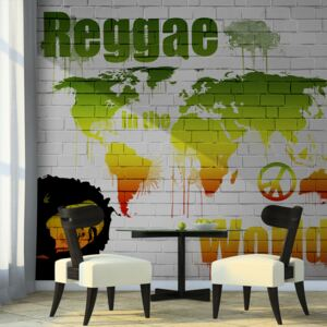 Fototapeta Bimago - Reggae in the world + lepidlo zdarma 200x154 cm