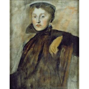 Obraz, Reprodukce - Study for a Portrait of a Lady, 1867 (oil on canvas), Edgar Degas