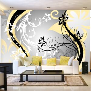 Bimago Fototapeta - Art-flowers (yellow) 200x140 cm