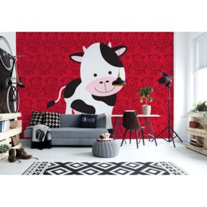 Fototapeta GLIX - Happy Cartoon Cow + lepidlo ZDARMA Vliesová tapeta - 208x146 cm
