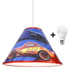 LED Lustr na lanku DISNEY CARS 1xE27/15W/230V