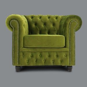 Chesterfield Classic Křeslo Brighton juke olive