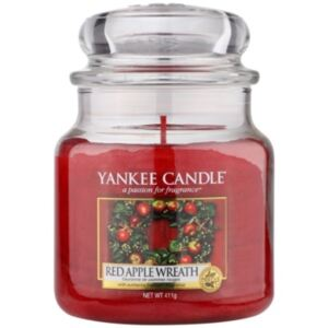 Yankee Candle Red Apple Wreath vonná svíčka Classic malá 411 g