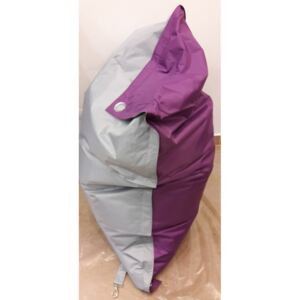 Sedací pytel Omni Bag Duo s popruhy Light Gray-Violet 191x141