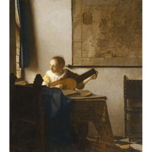 Obraz, Reprodukce - Woman with a Lute, c.1662-1663, Jan (1632-75) Vermeer
