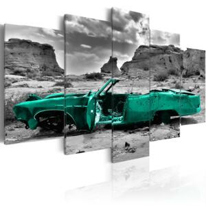 Obraz - Green car 100x50