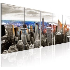 Obraz - New York: Grey Tower Blocks 200x80