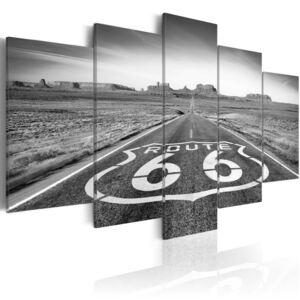 Obraz - Route 66 - black and white 100x50