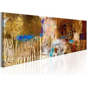 Obraz - Golden Structure 120x40