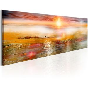 Obraz - Orange Sea 135x45