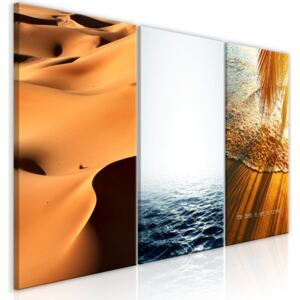 Obraz - Sand and Water (3 Parts) 120x60