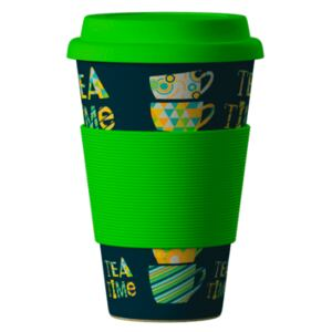 Eco Bamboo Cup Time for Tea 400 ml