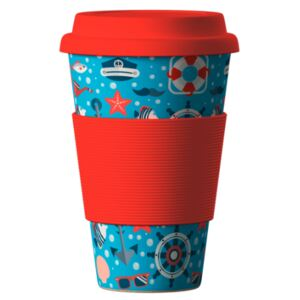 Eco Bamboo Cup Sea Red 400 ml