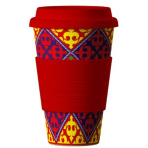 Eco Bamboo Cup Ornaments Red 400 ml