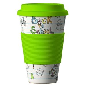 Eco Bamboo Cup Back to School 400 ml
