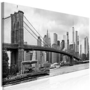 Obraz - Road to Manhattan - jednodílný úzký Black and White 120x40