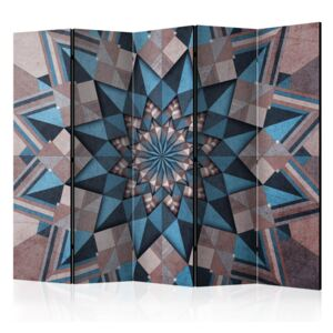Paraván - Star Mandala (Brown and Blue) II 225x172