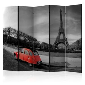 Paraván - Eiffel Tower and red car II 225x172