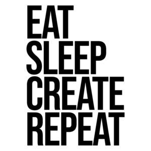 Ilustrace eat sleep create repeat, Finlay & Noa