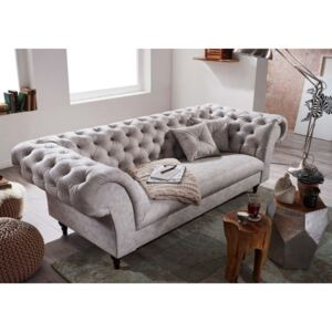 Askont R Pohovka 3M light grey Chesterfield Preston