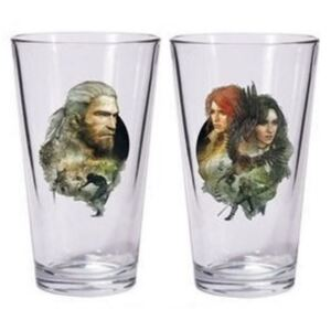 Dark Horse Comics Sklenice The Witcher 3 - Geralt and Triss with Yennefer 500ml