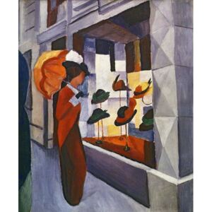Obraz, Reprodukce - In front of the Hat Shop, 1914, August Macke