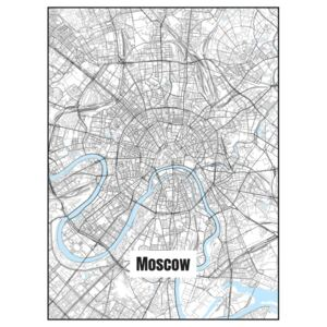 Ilustrace Map of Moscow, Nico Friedrich
