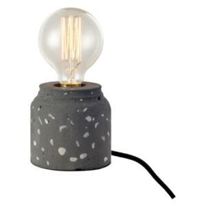 ACA DECOR Stolní lampa Vintage Concrete Dark Grey Ø 10 cm