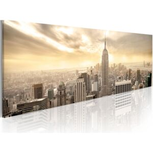 Obraz - New York City among the clouds 135x45