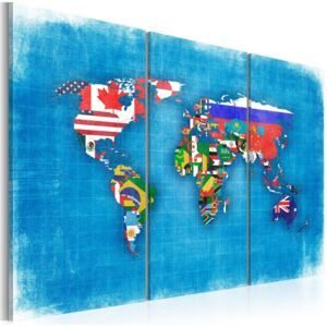 Obraz - Flags of the World - triptych 90x60