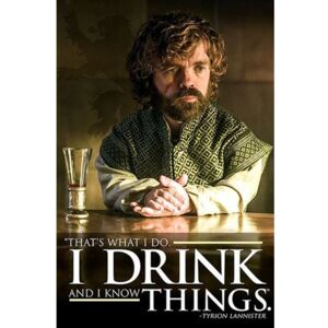 Pyramid International Plakát Game of Thrones - Drinking Tyrion