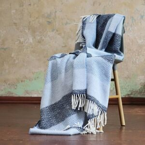 LinenMe Wool Throw Valentino Blue