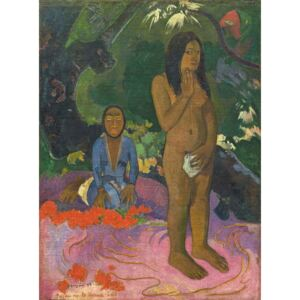 Obraz, Reprodukce - Parau na te Varua ino (Words of the Devil), 1892, Paul Gauguin