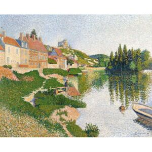 Obraz, Reprodukce - The River Bank, Petit-Andely, 1886, Paul Signac